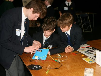 Image of Year 8 at the Faraday Challenge