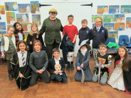Image of 'Year 3 and 4 in the Willows' for World Book Day